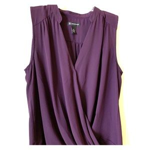 INC International Concepts Purple Blouse